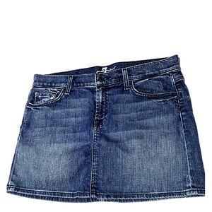 7 For All Mankind Denim Mini Skirt Size 30